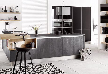 Häcker Kitchens Presents New Concrete-Look Cabinet Doors And