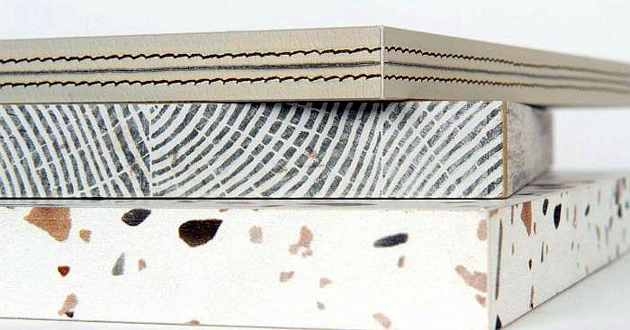Cantisa cantos canto efecto costura efecto testa terrazo Finsa Maderalia