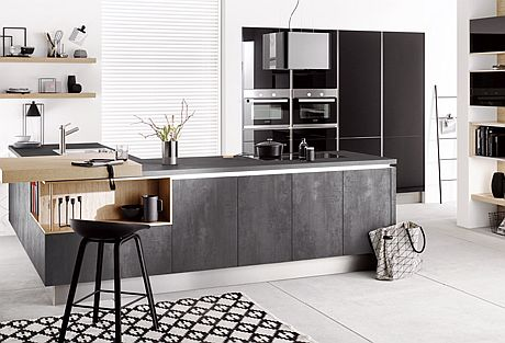Cocinaintegral Hacker Kitchens Presents New Concrete Look Cabinet