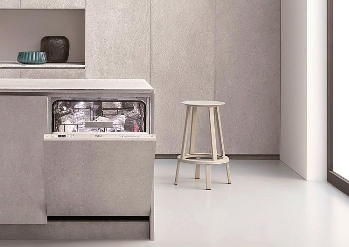 lavavajillas Supreme Clean Whirlpool tecnología Power Clean Pro 1 Hora Wash & Dry tecnología 6th Sense puerta deslizante