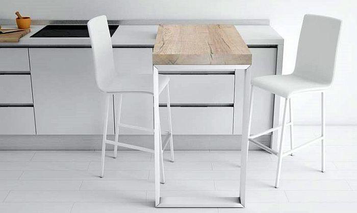 Cancio Laminado Cristal Porcelánico Acero lacado epoxy Aluminio epoxy barra 90 barra giratoria de cocina
