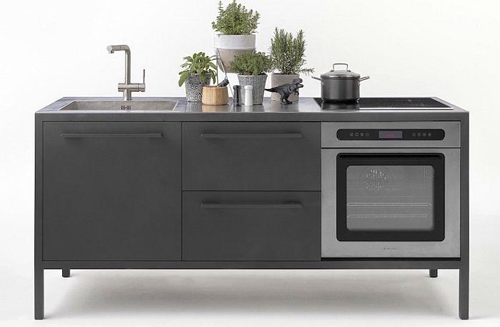 Colección Frame de muebles de cocina, de Fantin - cocinaintegral