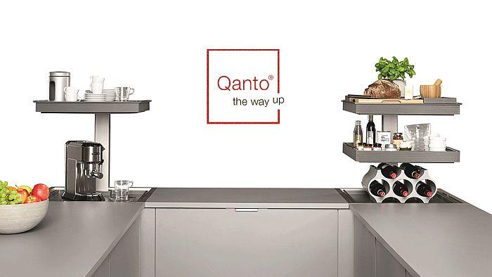Mueble rinconero bajo Qanto, distribuido por Häfele