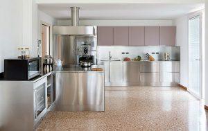 Abimis, cocinas, electrodomésticos, superficies de acero inoxidable AISI 304