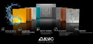 Grupo Alvic, Luxe by Alvic, Luxe Plus, Sicam, superficie de alto brillo, Syncron, Zenit