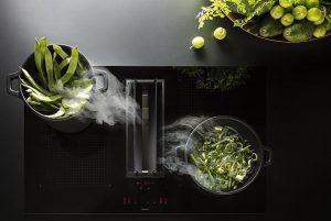 campana extractora, extracción y cocción integradas, Falmec, Frigicoll, Quantum