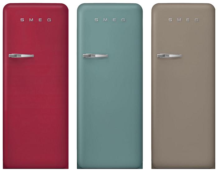 Smeg Cocinas | Cocina Integral Nuevos Colores Para Los Frigorificos Fab28 De