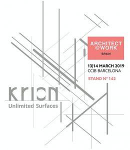 Arquitect@Work, Arquitect@Work Barcelona, CCIB (Centre de Convencions Internacional de Barcelona), Grupo Porcelanosa, Krion