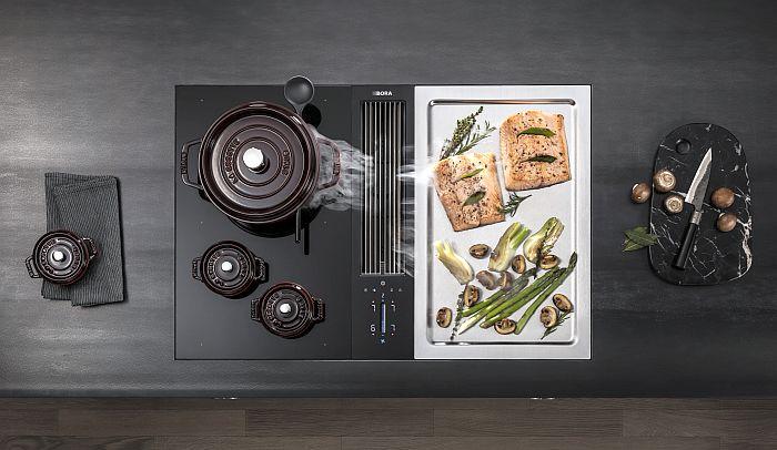 acero inoxidable, Bora, cocción a la parrilla, electrodomésticos de cocina, plancha, Professional 4 mm, sistema Classic 6 mm, sistemas de extracción de superficie, teppanyaki