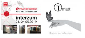 anti-fingerprint, auto-regenerative, Countertops, Crystal, high pressure laminates (HPL), Interzum, melamine TLAM, supermatt Tmatt surface, Transformad, Transformad Interzum