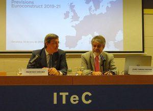 construcción en España, director general del ITeC, Euroconstruct, Francisco Diéguez, informe Euroconstruct, ITeC (Institut de la Tecnologia de la Construcció), jefe del Departamento de Mercados del ITeC, Josep Ramon Fontana, PAB-PCR&F Institute
