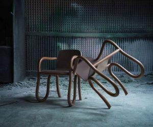 colección Kolho, compañía finlandesa de diseño contemporáneo, Formica Group, Kolho, laminado Formica, laminado texturizado a 80 micrones de profundidad, Made by Choice, Matthew Day Jackson, mesas y sillas, Orbitador de Reconocimiento Lunar de la NASA en 2009