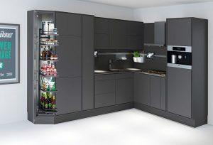 acceso cómodo, cocina metropolitana de 6 m2, control por voz, espacio de almacenamient, herrajes, Kesseböhmer, smart home, tecnología, Urban Smart Kitchen