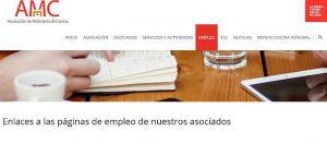 AMC, AMC (Asociación de Mobiliario de Cocina), Asociación de Mobiliario de Cocina, Bolsa de Empleo, Google Analytics, Jobsite Asociados, ofertas de trabajo, perfiles de Linkeding, pestaña Empleo, sección de Empleo, webs de empleo