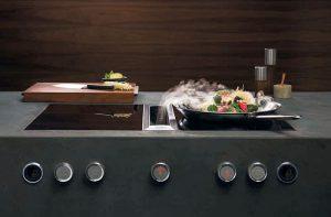 Bora, concavidad tridimensional, sartén wok para vitrocerámica de inducción, vitrocerámica de inducción, vitrocerámica de inducción de Bora, wok