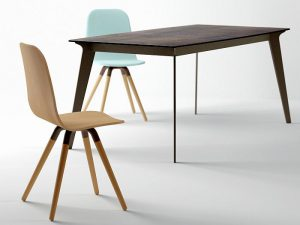 aluminio lacado epoxy, Cancio, cristal templado, Fenix NTM, Infinity, mesas y sillas de cocina, Neolith, Patas lámina de acero, polvo de acabado texturado