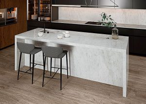 acabado natural, acabado pulido, blancura, cocinas, Coverlam Top, Coverlam Top Carrara, encimeras de cocina, lujo, Porcelánico Carrara, Porcelánico Carrara de Coverlam Top, superficies de cocina