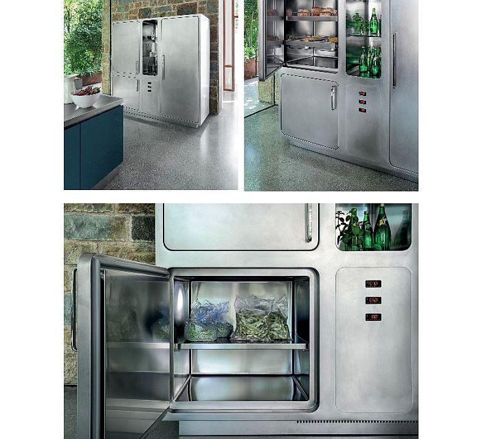 «refrigerador» que se divide en compartimentos individuales, Abimis, columnas de refrigeración, control frío abimis, distintos compartimentos, higiene, modelo Ego, sistema de ventilación interno, sistema Gastronorm, todos con una temperatura diferente