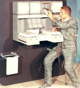 50º aniversario de la llegada del hombre a la Luna, 50º aniversario de la llegada del hombre a la Luna a bordo de la misión Apolo 11, cocinas, misión Apolo 11, misión Mercurio de la Fuerza Armada de los Estados Unidos, misiones Gemini y Skylab de la NAS, programa Cocina Espacial experimental, Smithsonian Institution, Whirlpool, Whirlpool Cocina Espacial