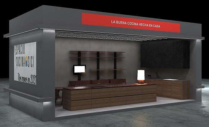 Render del stand de AMC en Hábitat Valencia 2019