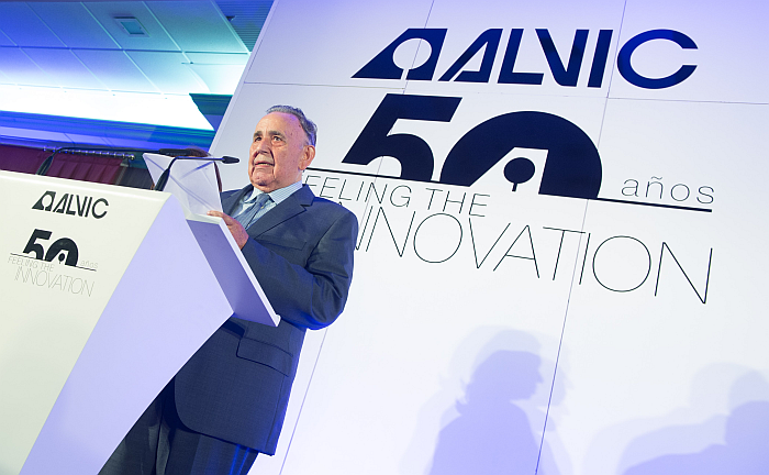 Alejandro Rosales, en la celebración del 50 aniversario de Alvic.