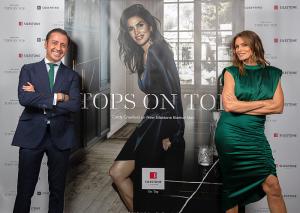 Eduardo Cosentino y Cindy Crawford con la campaña Tops on Top 2019 de Silestone en Londres