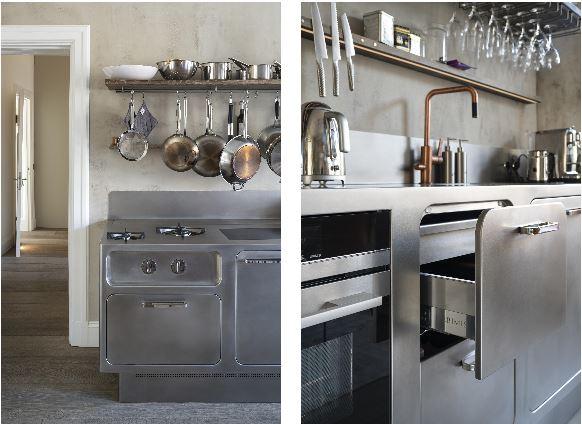 La cocina Ego, de Abimis, en un apartamento de Estocolmo