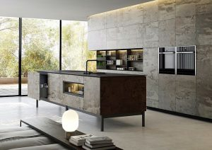 Dekton Slim kitchen cabinets in Trilium