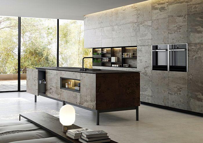 Dekton Slim kitchen cabinets in Trilium