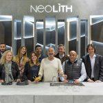 Karlos Arguiñano visita el stand de Neolith en Cevisama 2020