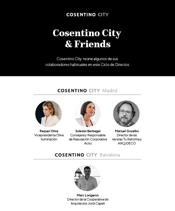 Comienzan los ciclos en directo Cosentino City & Friends.