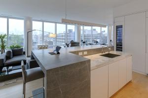 Neolith, en la cocina de un apartamento de lujo en Nueva York