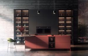 Los nuevos colores Tmatt, de Transformad, en una cocina de estilo japonés