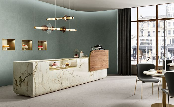 Calacatta Macchia Vecchia, by SapienStone: dazzling Carrara marble