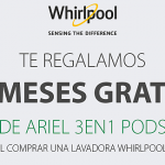 Whirlpool regala seis meses de detergente Ariel por la compra de una lavadora o lavasecadora