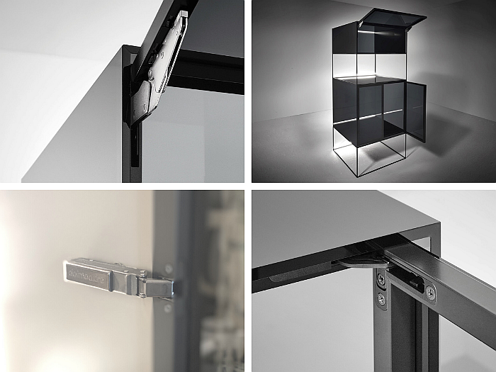 Soluciones Grass para vitrinas de aluminio