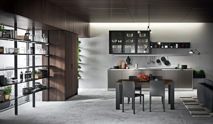 Rastelli, R1, cocina negra, cocina industrial, cocina articulada, módulos de cocina