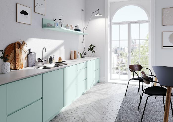 Hygge, Passion for color 2020, superficies para muebles, Rehau, Rauvisio, Rauvisio brilliant, Rauvisio crystal