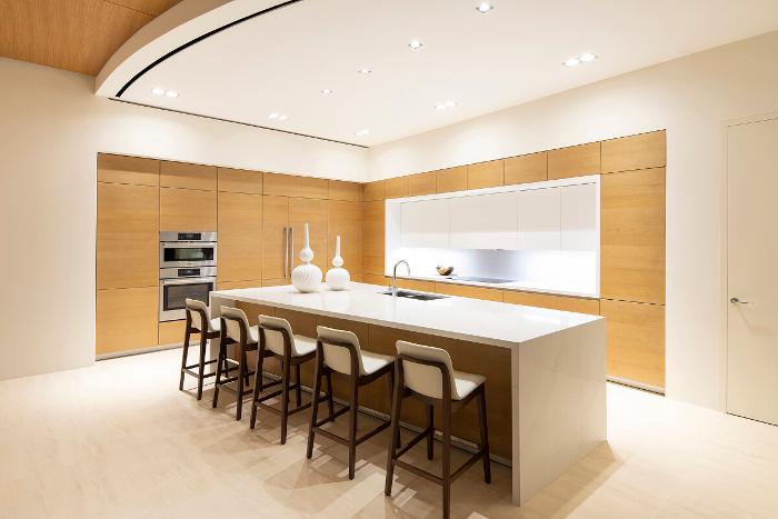 Cocina con muebles Santos, Santos muebles cocina, residencia unifamiliar de lujo, costa rica, Villa Serena