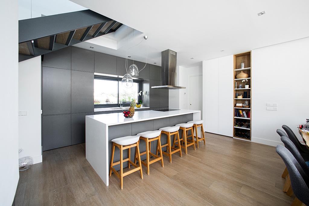 cocinas modernas en blanco y gris, cocina vijupa
