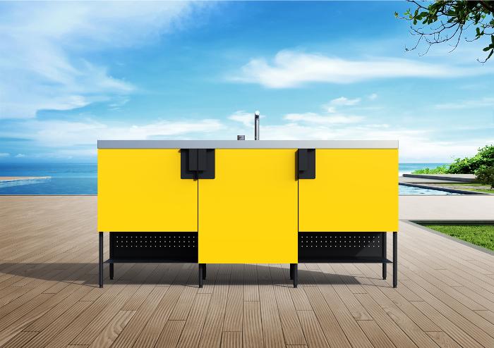 Àtria, Abimis, cocina modular, cocina exterior, cocina de acero inoxidable,  Studio Delineo, Massimo Rosati